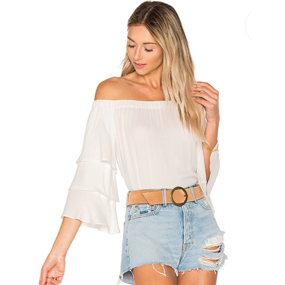 6149f5d75cc Ella Moss Tops | Stella Off The Shoulder Ruffle Top | Poshmark